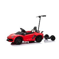 Licensed Lamborghini Aventador SVJ High Quality Scissors Doors Kids Electric Ride On Car with Push Bar & Adult's Standing Plate (ST-D2018B)